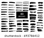 painted grunge stripes set.... | Shutterstock .eps vector #693786412