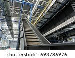 conveyor of the waste sorting... | Shutterstock . vector #693786976