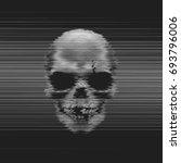 vector human horror skull... | Shutterstock .eps vector #693796006