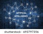 machine learning   deep... | Shutterstock . vector #693797356