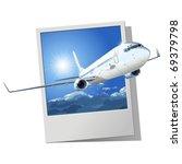 vector airliner | Shutterstock .eps vector #69379798
