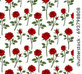 floral english victorian... | Shutterstock . vector #693798808