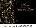 vector invitation template with ... | Shutterstock .eps vector #693800962