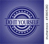 do it yourself jean background | Shutterstock .eps vector #693805282