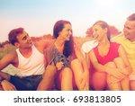 friendship  summer vacation ... | Shutterstock . vector #693813805
