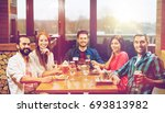leisure  eating  food and... | Shutterstock . vector #693813982
