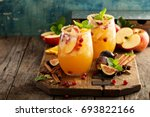 fall sangria cocktail with... | Shutterstock . vector #693822166