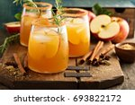 hard apple cider cocktail with... | Shutterstock . vector #693822172