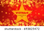 vietnam independence day flag... | Shutterstock .eps vector #693825472