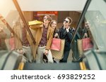 sale  consumerism and people... | Shutterstock . vector #693829252