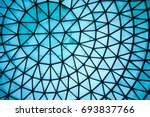 Curved Blue Glass Roof Or...