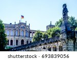 facade of the famous maximilianeum at munich/germany - stock photo