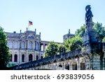 facade of the famous... | Shutterstock . vector #693839056