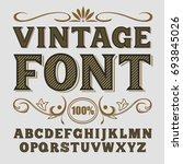 vintage label font. alcogol... | Shutterstock . vector #693845026