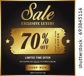 luxury gold sale banner template | Shutterstock .eps vector #693845116