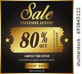 luxury gold sale banner template | Shutterstock .eps vector #693845122