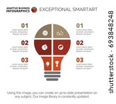 light bulb infographic chart... | Shutterstock .eps vector #693848248