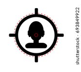 sniper scope crosshair aiming... | Shutterstock .eps vector #693849922