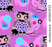 vector seamless pattern with... | Shutterstock .eps vector #693852925