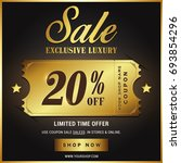 luxury gold sale banner template | Shutterstock .eps vector #693854296