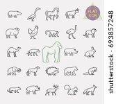animals line icons set | Shutterstock .eps vector #693857248