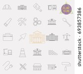 building line icons set | Shutterstock .eps vector #693857386