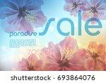 paradise summer sale background ... | Shutterstock .eps vector #693864076