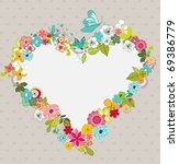 heart wreath  a valentine... | Shutterstock .eps vector #69386779