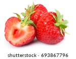 strawberry isolated on white... | Shutterstock . vector #693867796