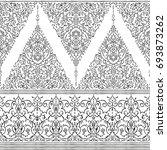 islamic floral pattern in... | Shutterstock .eps vector #693873262