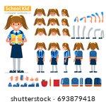 school girl character... | Shutterstock .eps vector #693879418