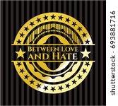 between love and hate golden... | Shutterstock .eps vector #693881716