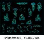 abstract ocean elements. sea... | Shutterstock .eps vector #693882406