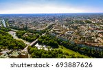 aerial view flying by over... | Shutterstock . vector #693887626