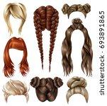 set of realistic female... | Shutterstock .eps vector #693891865