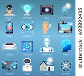 future technologies icons with... | Shutterstock .eps vector #693892435