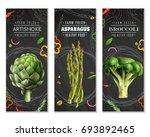 healthy food vertical banners... | Shutterstock .eps vector #693892465