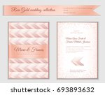 luxury wedding invitation... | Shutterstock .eps vector #693893632