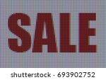macro shot of word sale...   Shutterstock . vector #693902752