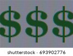 macro shot of dollar signs...   Shutterstock . vector #693902776