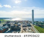 aerial view of the west harbor ... | Shutterstock . vector #693903622