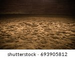 sandy horse riding arena with... | Shutterstock . vector #693905812