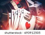 3d illustration of multi casino ... | Shutterstock . vector #693912505