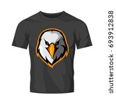 furious eagle head athletic...   Shutterstock .eps vector #693912838