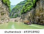 the three gorges yangtze river... | Shutterstock . vector #693918982