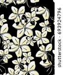 seamless flower pattern of... | Shutterstock .eps vector #693924796