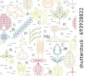 color superfood line icons... | Shutterstock .eps vector #693928822