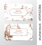 business card with copper... | Shutterstock .eps vector #693932386