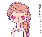 beauty woman with hairstyle and ... | Shutterstock .eps vector #693932482