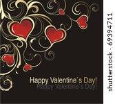 valentine s day card | Shutterstock .eps vector #69394711